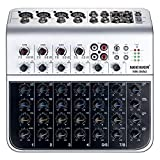 Neewer Stereo Mixer Compact Mini Mixing Console with 4 Channel 2-way Stereo Line