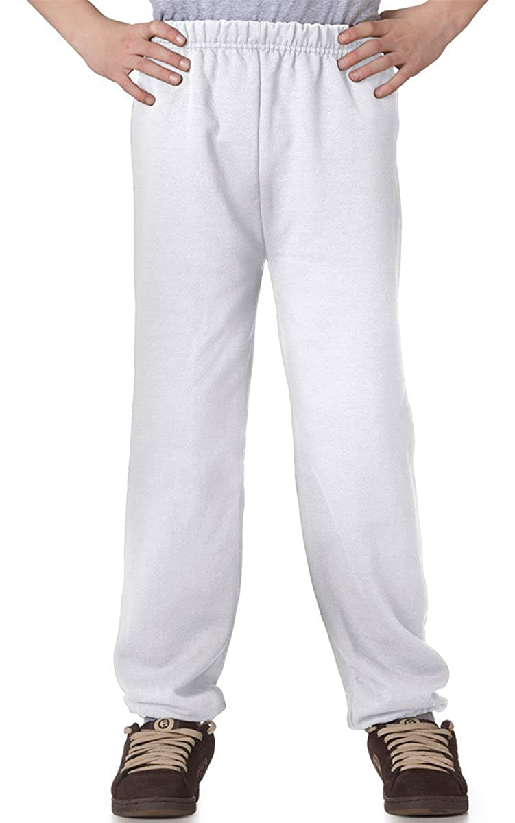 Jerzees Youth 8 oz., 50/50 NuBlend Sweatpants (973B)- WHITE,S