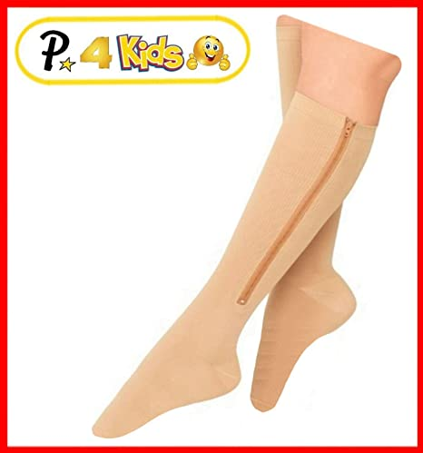 ca096790913a Presadee Kid s Edition Easy Zipper Compression Socks Knee Length Energize  Leg Circulation Performance...