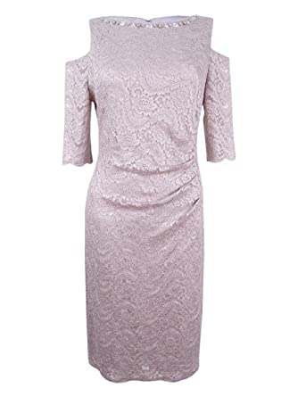 70bbb4467841 Jessica Howard Cold Shoulder Lace Sheath Dress 10 at Amazon Women's Clothing  store: