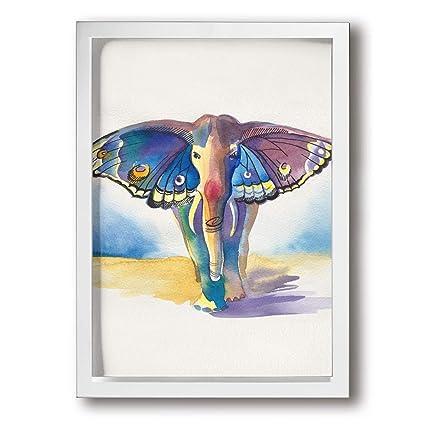 Amazon.com - CARRYFUTURE Painting Photo Black Picture Frame Elephant ...