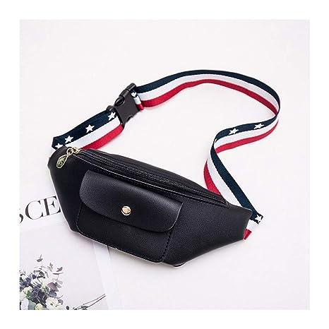 b9d6e17f2ba0 Amazon.com : HAOLIEQUAN Waist Pack Waist Bags for Women Brand Pu ...