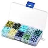 Beadthoven 1Box Mixed Style 10mm Round Glass Pearl Beads, Dyed, Loose Beads for Christmas Jewelry Making, Mixed Color