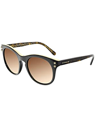 8dca5a149b7a5 Coach Womens Sunglasses (HC8190) Black Brown Plastic - Non-Polarized - 51mm