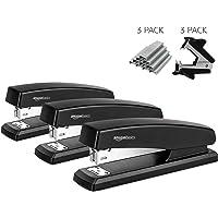 AmazonBasics Stapler Value Pack, Standard Stapler, Full-strip, 20 Sheet Capacity, Includes Staples & Staple Remover, 3 Pack