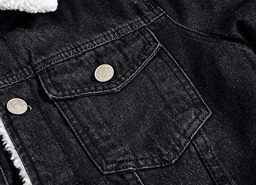 Jeans Velluto Sottile Plus Di Cashmere Denim Nero E Giacca Camicia Coreano Invernale Ispessimento Xl Uomini UwqEw1
