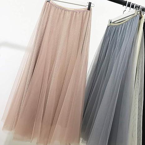 MEILIDE Falda para Mujer Cintura Alta Que Adelgaza una Palabra ...