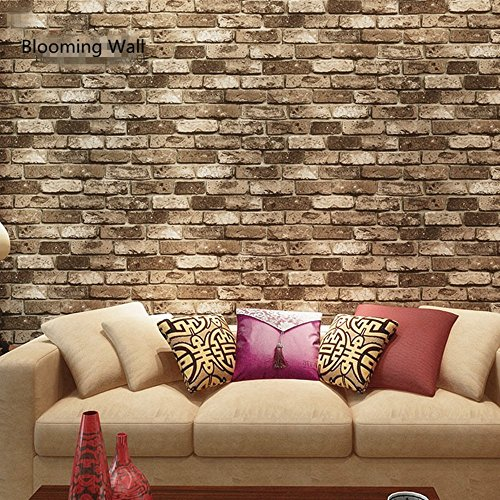 Details About New 3d Faux Rustic Tuscan Brick Wall Pattern Wallpaper Roll Livingroom Bedroom