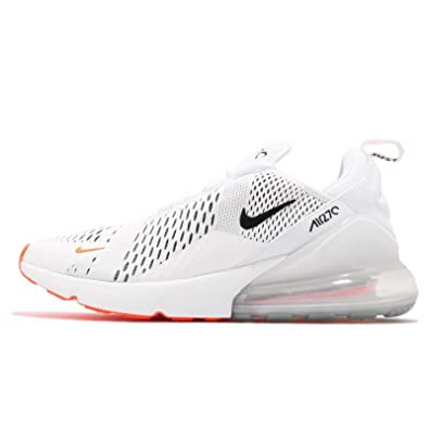 size 40 d60b9 23924 Nike Air Max 270 Mens Ah8050-106 Size 14 White/Black-Total Orange