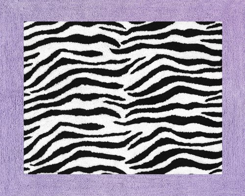 Purple Funky Zebra Accent Floor Rug by Sweet Jojo Designs Rug-Zebra-PU
