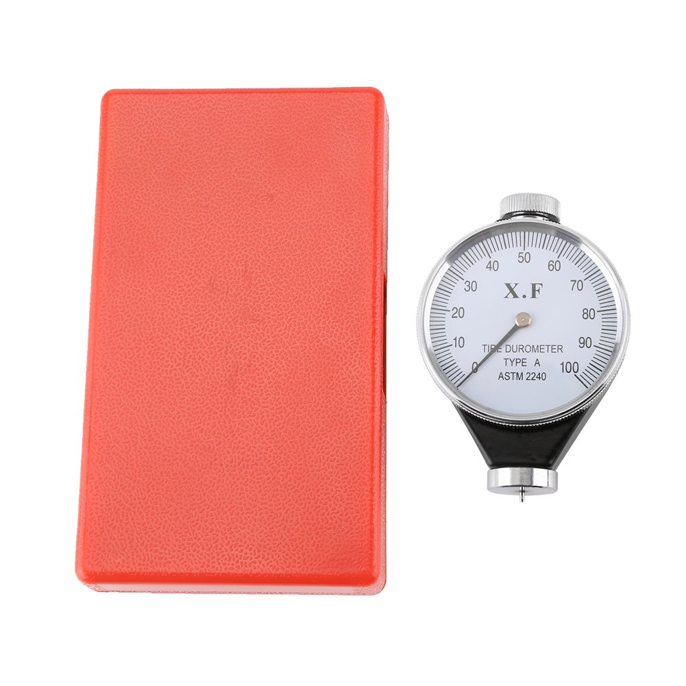 Rubber Tire Durometer Hardness Tester Meter Shore Type A/O/D Dial Value 0-100 Degrees(Type A)