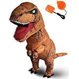 Topaty Inflatable Trex Dinosaur Costume Bodysuit T-Rex Blow Up Suit Halloween Dress With Blower For Kids And Adult