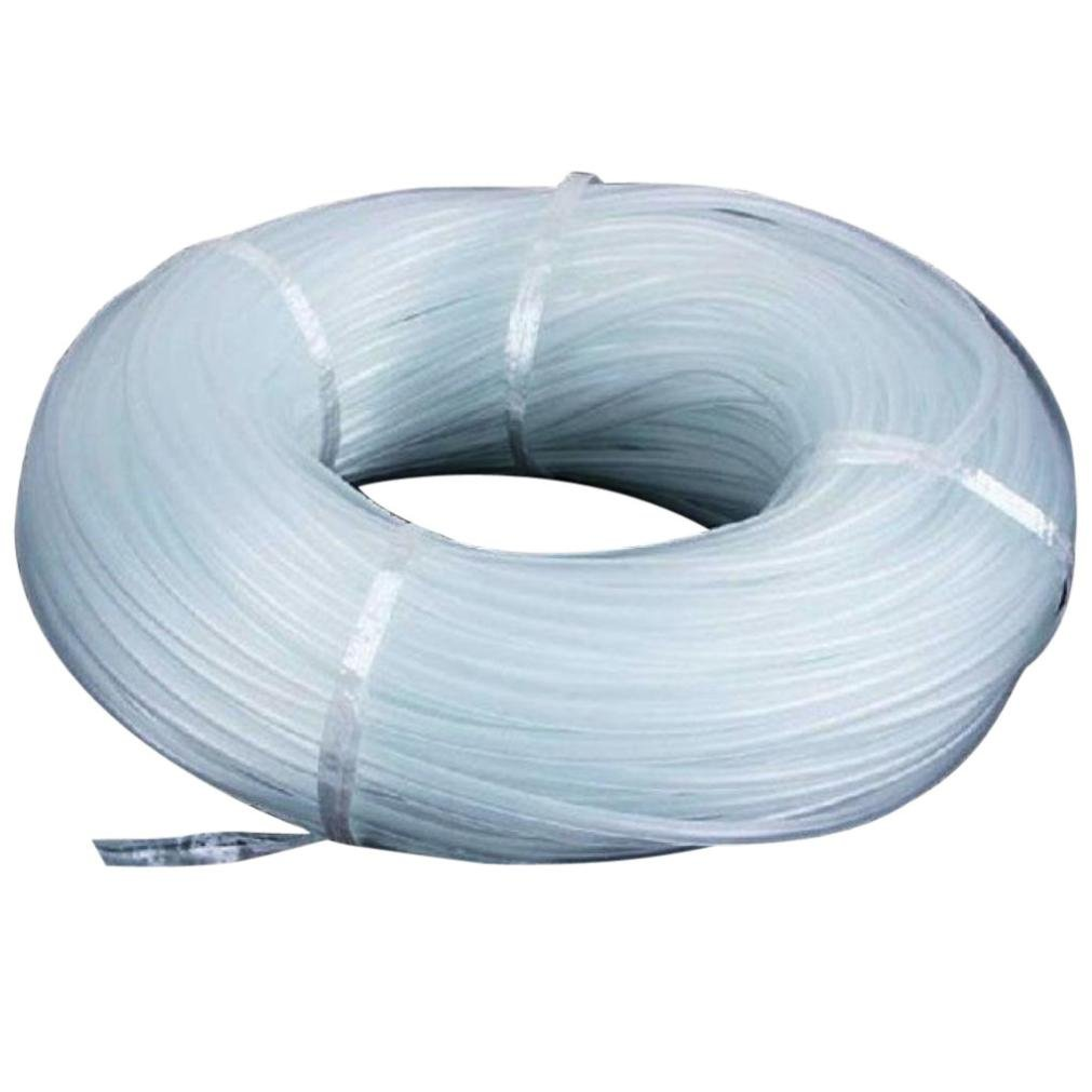 Vacally New 46mm Oxygen Pump Hose for Air Bubble Stone Aquarium Fish Tank Pond Pump Clear Tubing Flexible Air Food Water Delivery Feeding Hose (1M)