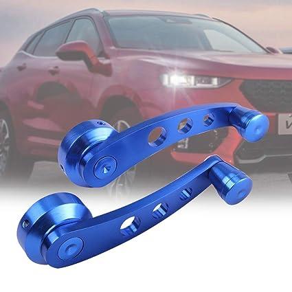 Universal Blue Aluminum Car Interior Manual Door Window Winders Crank Handles