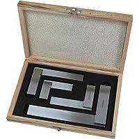 Faithfull FAIESSET4 4-delige ingenieurs vierkante set 50,75,100,150 mm (2 inch, 3 inch, 4 inch, 6 inch) in houten…