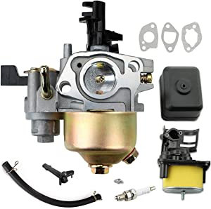 LEIMO Gx160 Carburetor for Honda GX120 GX160 GX200 5.5HP 6.5 HP Small Engine carb Replaces# 16100-ZH8-W61,Include Air Filter Housing with air Filter Assembly