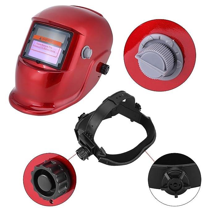 Casco de soldadura, solar, oscurecimiento automático, máscara de soldadura Arc Tig Mig: Amazon.es: Bricolaje y herramientas