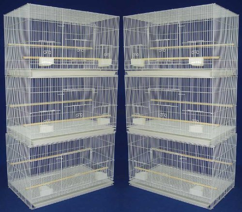Lot of 6 Aviary Breeding Bird Finch Parakeet Finch Flight Cage 24' x 16' x 16' White Mcage