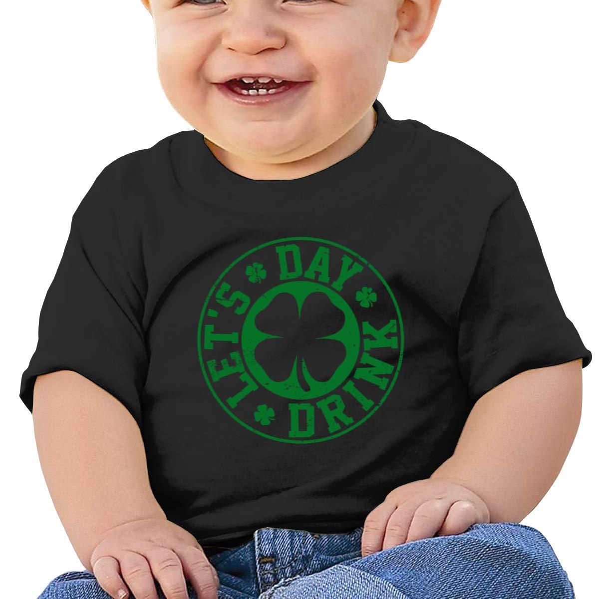 SCOTT CARROLL Lets Day Drink Short-Sleeves Tshirt Baby Girl