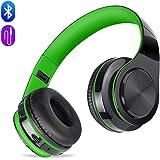 Auriculares Bluetooth Inalámbricos con Micrófono, Auriculares con Cable Plegable Headphones con HiFi Sonido Estéreo y Deep Bass, Cascos Bluetooth Compatible con Móviles,Tabletas,TV MeihuaTu(Verde)