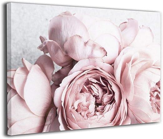 Set of 3 Peony Peonies Flower Art Print Poster Scandi Grey Black and White Gray
