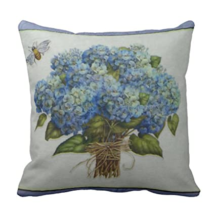 Amazon Emvency Throw Pillow Cover Beautiful Blue Hydrangeas Fascinating Hydrangea Decorative Pillows