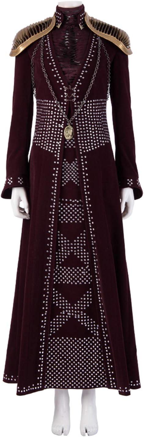 QWEASZER Juego de Tronos 8 Queen Cersei Lannister Disfraz Adulto ...