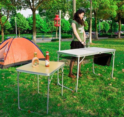 SoBuy® Mesa de camping plegable,mesa de picnic,parrilla ...