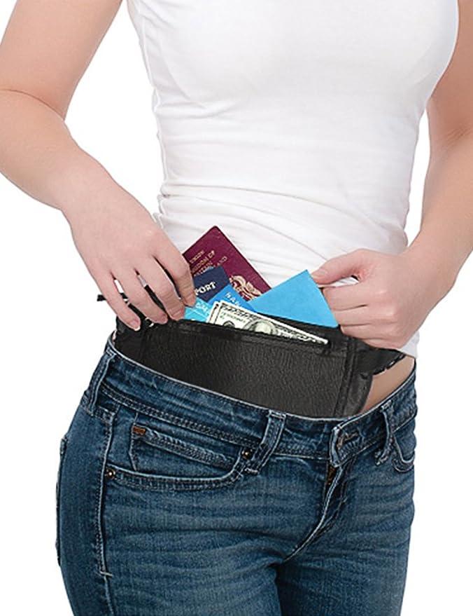 MinYuocom Ceinture de Voyage Sac Banane pour Téléphone de la monnaie carte d'identité Passeport RFID MZBJ034B X4s3fHv1