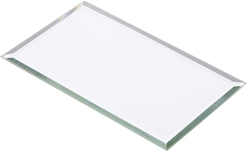 Plymor Rectangle 3mm Beveled Glass Mirror, 3 inch x 5 inch Pack of 144