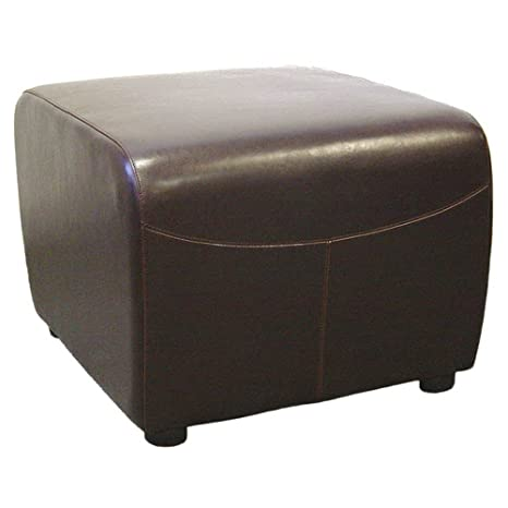 Awesome Baxton Studio Full Leather Ottoman Dark Brown Dailytribune Chair Design For Home Dailytribuneorg