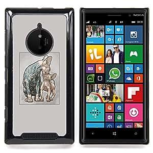 Tattooed Cats - Prison Cats - Sphynx Caja protectora de pl¨¢stico duro Dise?ado King Case For Nokia Lumia 830