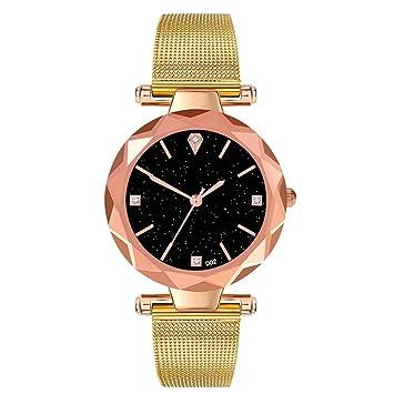 favourall Quartz Reloj Mujer Rose Oro, Estrella Claro Cielo Reloj de Cuarzo Mujeres, fácil Casual Reloj de Pulsera para Mujeres, Cuatro Colores Disponible: ...