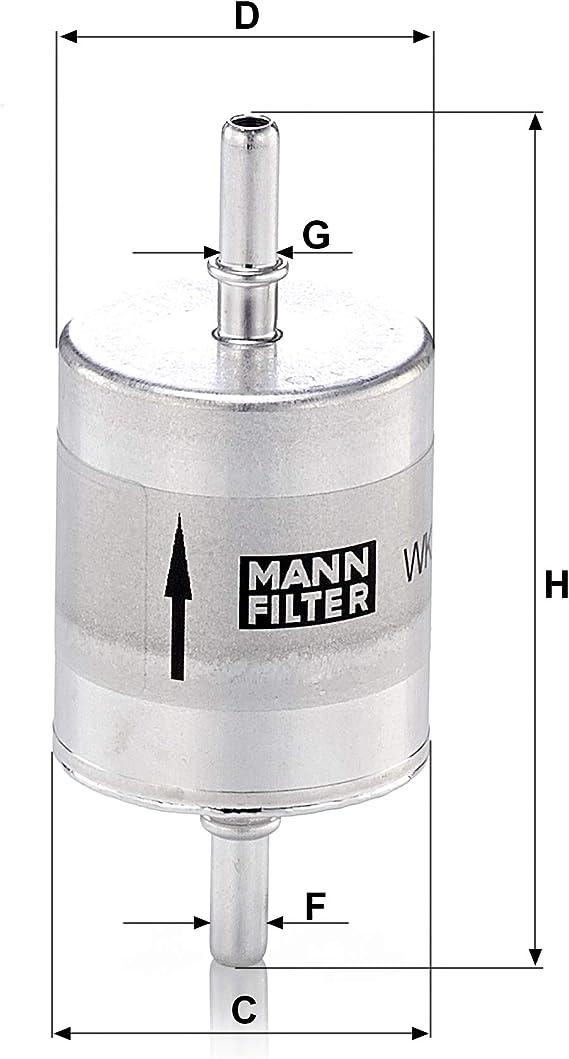 Original Mann Filter Wk 52 1 Kraftstoffwechselfilter Für Industrie Land Und Baumaschinen Auto