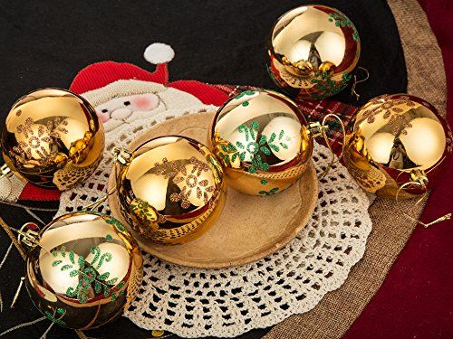 iPEGTOP Christmas Balls Ornaments, 6ct 80mm/3.2