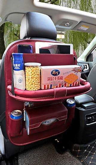 600D Oxford Cloth HONCENMAX Car Seat Back Organizer Seat Back Protectors Laptop Holder Tray Foldable Dining Table Multi Pockets Kick Mat