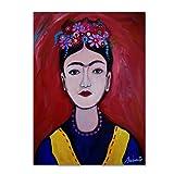 Frida Adolescente by Prisarts, 24x32-Inch Canvas