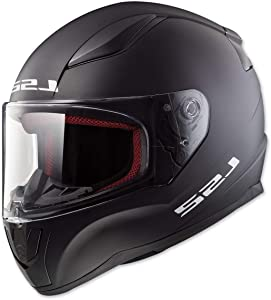 LS2 Helmets Rapid Solid Matte Black Unisex-Adult Full-Face-Helmet-Style Motorcycle Helmet (Matte Black, XX-Large)