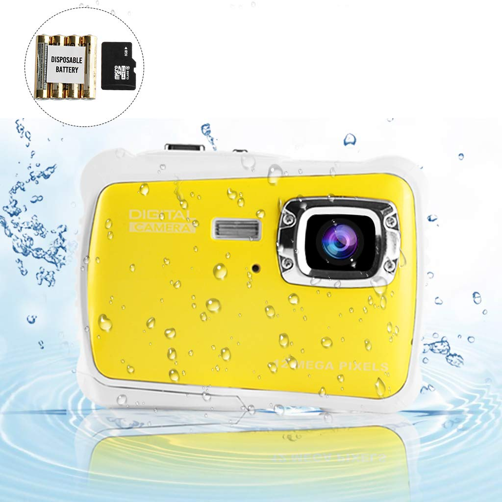 Underwater Camera for Kids, Waterproof Digital Camera Children Gift Mini Action Sport Camcorder 12MP HD/2.0 Inch LCD Display/8X Digital Zoom with 8GB SD Card & Batteries by Jamal (Image #9)