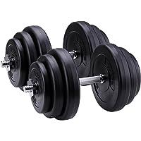 CCLIFE Kurzhantel-Set 30kg Gewichten Hantelscheiben Kunststoff