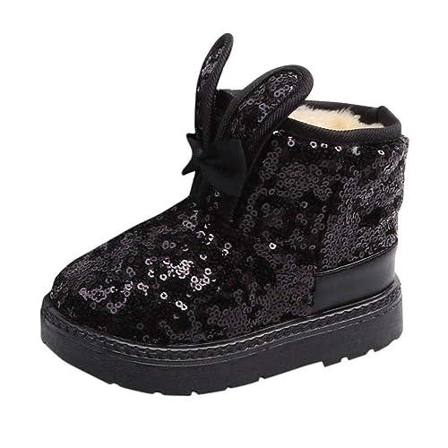 Botas Niña de 2-11 Años, ❤ Zolimx Niños Bebés Bebé Niñas Invierno Conejo Oído Blings Lentejuelas Botas de Nieve Zapatos Calientes: Amazon.es: Zapatos y ...
