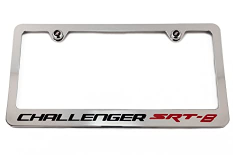 Amazon.com: Dodge Challenger SRT8 SRT-8 License Plate Frame Chrome ...