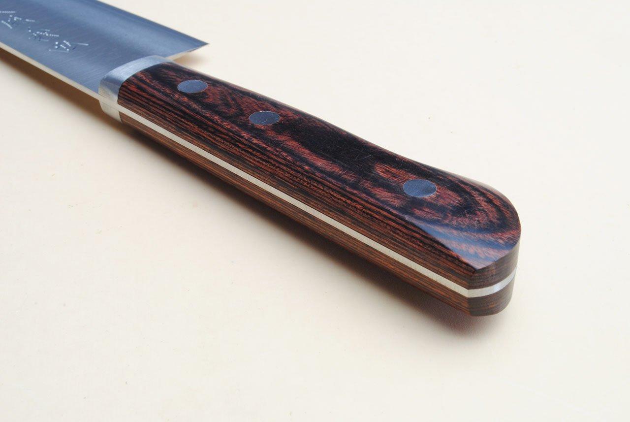 Yoshihiro VG-1 Gold Stainless Steel Gyuto Japanese Chef Knife 7'' (180mm) Magnolia Wood Saya Cover by Yoshihiro (Image #5)