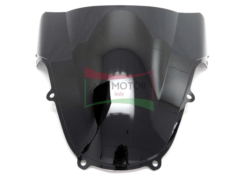 Protek ABS Plastic Injection Black Smoke Double Bubble Transparent Windscreen Windshield Front Visor for 2001 2002 2003 Suzuki GSXR600 2000 2001 2002 2003 GSXR750 2001-2002 GSXR1000