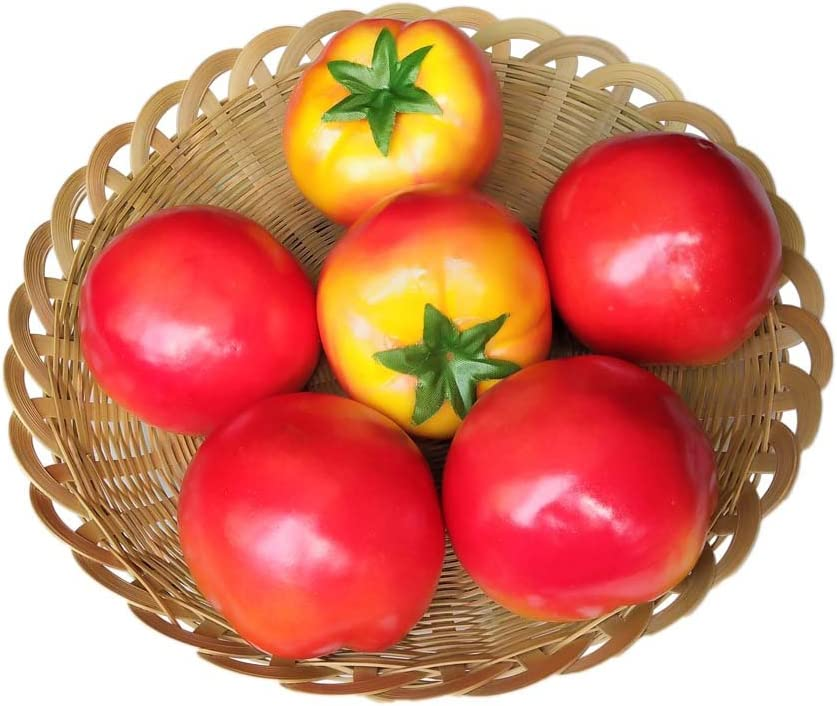 Lorigun Artificial Tomatoes Simulation Fake Vegetable Photo Props Home Decoration X 6Pcs