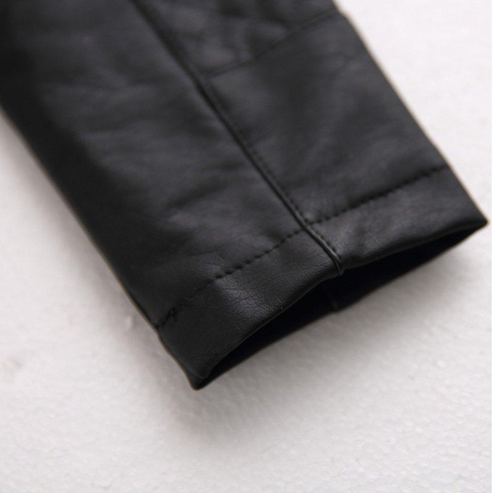 Amazon.com: Yiwa Kids PU Leather Jacket Punk Rock Clothes ...