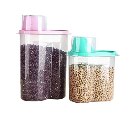 Velidy - Dispensador de contenedores de cereales de almacenamiento de arroz, 1,9 l