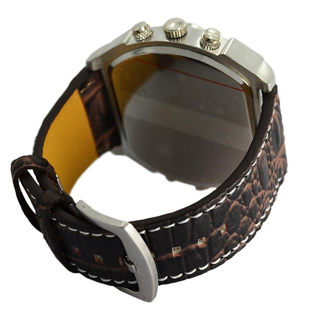 Readeel Oul-7157 M1065K - Reloj para hombres, correa de cuero color marrón: Amazon.es: Relojes