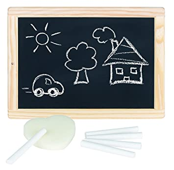 Schultafel mit kreide und schwamm  Goki 4013594589529 Schreibtafel mit Kreide und Schwamm: Amazon.de ...