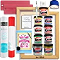 Silhouette Cameo Advanced Screen Printing Bundle with Extra Paints, 2 Screens, and More by Swing Design